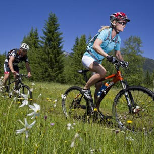 Mountain biking across the famous meadows